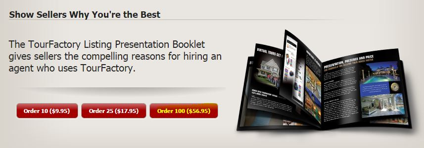 order listing presentation booklets tourfactory help
