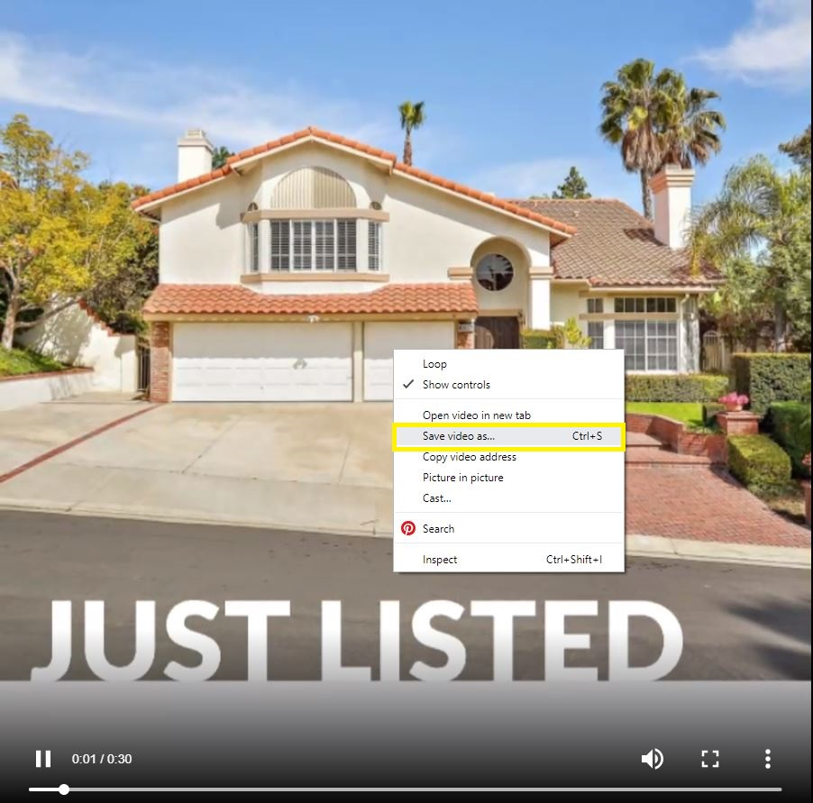Just Listed Save As